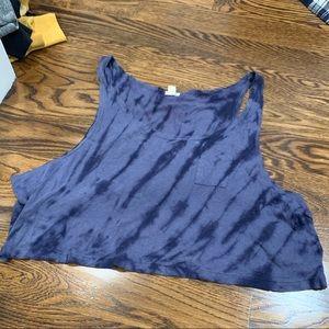 Tops - Blue tie dye crop tank size Med